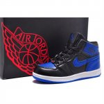 Children Air Jordan Shoes 1 Black Blue