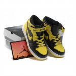 Children Air Jordan Retro 1 Yellow Black White