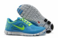 Nike Free 5.0 3V Powder Blue Fluorescent Green Shoes