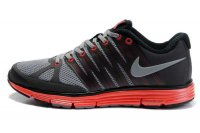 Nike LunarElite+ 2 Black Grey Red Mens Running Shoes 429784 100