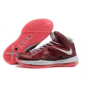 Mens Nike LeBron 10 Red White