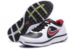 Nike LunarSwift Leather White Black Mens Running Shoes