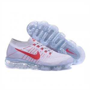 Mens Nike Air VaporMax Flyknit White Red Shoes