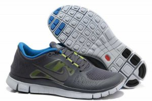 Nike Free 5.0 3V Dark Gray Sapphire Blue Shoes