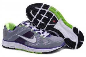 Nike Lunar Elite+ Grey Purple Green Womens Shoes