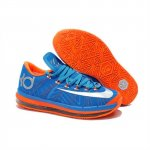 Mens Nike KD 6 Elite Blue Silver Orange