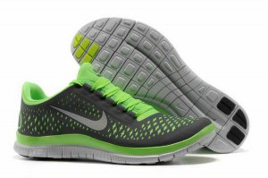 Nike Free 3.0 V4 Charcoal Gray Green Shoes