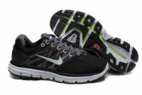 Nike LunarGlide+ 2 Black White Mens Shoes