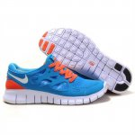 Nike Free Run 2 Womens Shoes Blue Orange