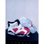 Kids Nike Air Jordan Retro 6 White Red Black