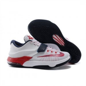 Mens Nike Zoom KD 7 White Red Navy