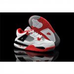 Kids Air Jordan 4 Retro Cushion White Red Black