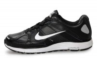 Nike Lunar Elite Leather Black Silver Mens Running Shoes