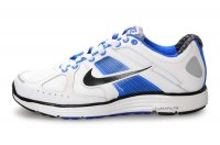 Nike Lunar Elite Leather White Blue Mens Running Shoes