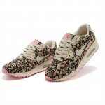 Nike Air Max 90 Womens Flowers Beige Shoes