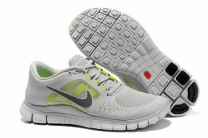 Nike Free 5.0 3V light Gray Silver Shoes