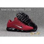 Mens Nike Air Vapormax 2018 Shoes Wine Red Black