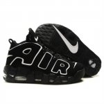 Mens Nike Air More Uptempo Black White Shoes