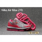 Nike Air Max 270 Gray Peach Shoes For Women