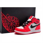 Children Air Jordan Shoes 1 Red White