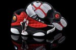 AIR JORDAN 13 Women Black and Red Shoes 2013-1-17