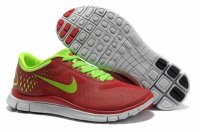 Nike Free 4.0 V2 Red Green Shoes