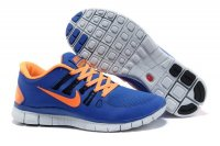 Nike Free 5.0 2V Sapphire Blue Orange Shoes