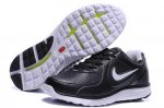 Nike LunarSwift Leather Black Silver Mens Running Shoes