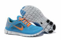 Nike Free 5.0 3V Blue Orange Shoes