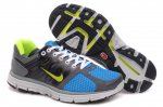Nike LunarGlide+ 2 Grey Blue Yellow Mens Shoes