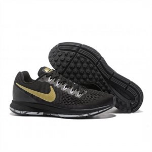 Mens Nike Air Zoom Pegasus 34 Black Gold Shoes
