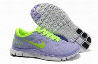 Nike Free 4.0 V2 Purple Fluorescent Green Shoes