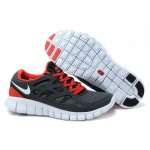 Nike Free Run 2 Womens Shoes Dark Gray Red