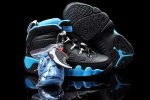 AIR JORDAN 9 RETRO (TD) KIDS Black and Blue Shoes 2013-1-17