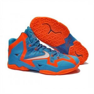 Mens Nike LeBron 11 Blue Orange