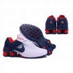 Mens Nike Shox Deliver White Navy Red Shoes