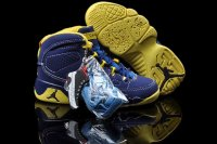 AIR JORDAN 9 RETRO (TD) KIDS Purple and Yellow Shoes 2013-1-17