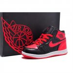 Children Air Jordan Shoes 1 Black Red