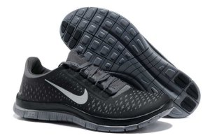 Nike Free 3.0 V4 Black Charcoal Gray Shoes