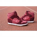 Womens Dunk Sky HI Claret Red Shoes