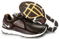 Nike Lunar Eclipse Leather Brown Sliver Mens Shoes