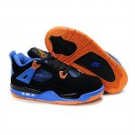 Children Air Jordan 4 Retro Black Blue Orange