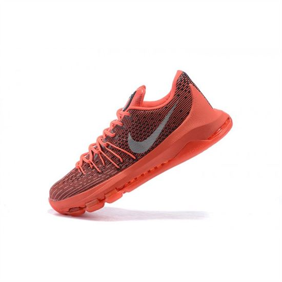 Mens Nike KD 8 EP Basketball Shoes Bright Crimson White Black - Click Image to Close